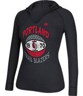Women's adidas Portland Trail Blazers NBA Retro Baller Hooded Shirt
