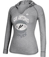 Women's adidas San Antonio Spurs NBA Retro Baller Hooded Shirt