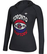 Women's adidas Toronto Raptors NBA Retro Baller Hooded Shirt
