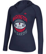 Women's adidas Washington Wizards NBA Retro Baller Hooded Shirt