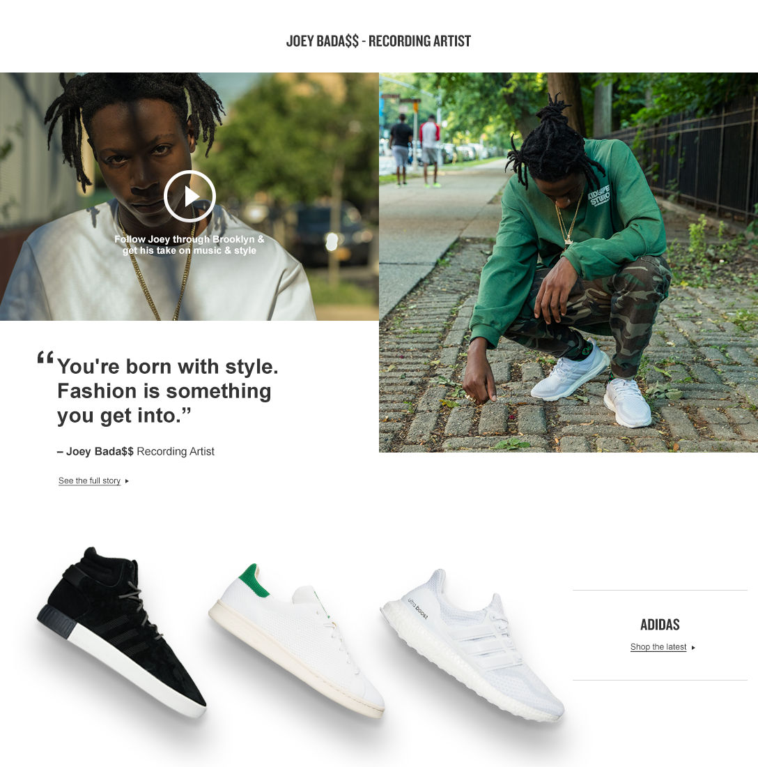 Follow Joey Bada$$ through Brooklyn and get his take on music and style.