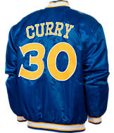 Men's JH Design Golden State Warriors NBA Stephen Curry Satin Jacket