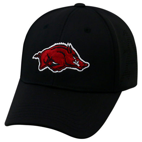 Top Of The World Arkansas Razorbacks College Rails Performance Flex Fit Hat