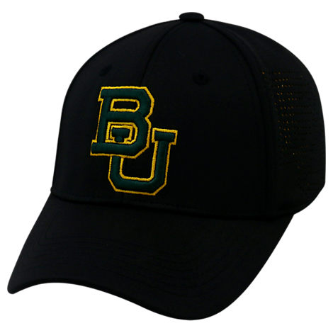Top Of The World Baylor Bears College Rails Performance Flex Fit Hat