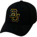 Front view of Top Of The World Baylor Bears College Rails Performance Flex Fit Hat in Black