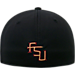 Back view of Top Of The World Florida State Seminoles College Rails Performance Flex Fit Hat in Black