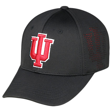 Top Of The World Indiana Hoosiers College Rails Performance Flex Fit Hat