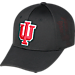 Front view of Top Of The World Indiana Hoosiers College Rails Performance Flex Fit Hat in Black