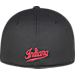 Back view of Top Of The World Indiana Hoosiers College Rails Performance Flex Fit Hat in Black