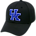 Front view of Top Of The World Kentucky Wildcats College Rails Performance Flex Fit Hat in Black