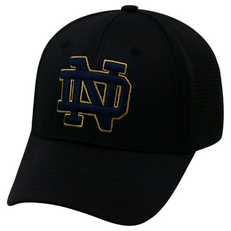 Top Of The World Notre Dame Fighting Irish College Rails Performance Flex Fit Hat