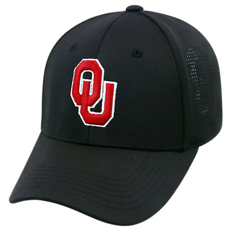 Top Of The World Oklahoma Sooners College Rails Performance Flex Fit Hat