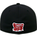 Back view of Top Of The World Oklahoma Sooners College Rails Performance Flex Fit Hat in Black