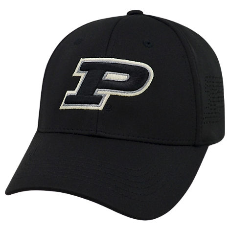 Top Of The World Purdue Boilermakers College Rails Performance Flex Fit Hat