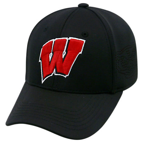 Top Of The World Wisconsin Badgers College Rails Performance Flex Fit Hat