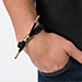 Back view of Rastaclat Classic Bracelet - Onyx II in Black/Gold