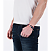 Back view of Rastaclat Classic Bracelet - Half & Half in Raspberry Half & Half