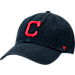 Front view of '47 Cleveland Indians MLB Clean Up Adjustable Back Cap in Team Colors