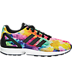 Girls' Grade School adidas ZX Flux Print Casual Shoes
