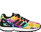 Girls' Grade School adidas ZX Flux Print Casual Shoes