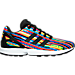Right view of Girls' Grade School adidas ZX Flux Casual Shoes in Core Black/Multi Digi Pink