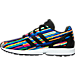 Left view of Girls' Grade School adidas ZX Flux Casual Shoes in Core Black/Multi Digi Pink