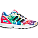 Right view of Girls' Preschool adidas ZX Flux Casual Shoes in White/Core Black/Bold Pink