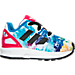 Right view of Girls' Toddler adidas ZX Flux Casual Shoes in White/Core Black/Bold Pink