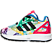 Left view of Girls' Toddler adidas ZX Flux Casual Shoes in White/Core Black/Bold Pink