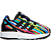 Right view of Girls' Toddler adidas ZX Flux Casual Shoes in Core Black/Multi Digi Print