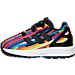 Left view of Girls' Toddler adidas ZX Flux Casual Shoes in Core Black/Multi Digi Print