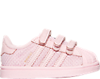 Girls' Toddler adidas Superstar Hook-and-Loop Closure Casual Shoes
