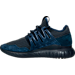 Left view of Men's adidas Tubular Radial Casual Shoes in Navy