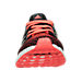 Front view of Boys' Grade School adidas UltraBOOST Running Shoes in Black/Solar Red