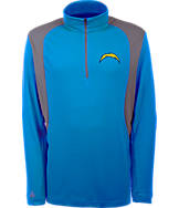 Men's Antigua San Diego Chargers NFL Delta Quarter Zip Shirt