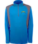 Men's Antigua San Diego Chargers NFL Delta Quarter Zip Shirt