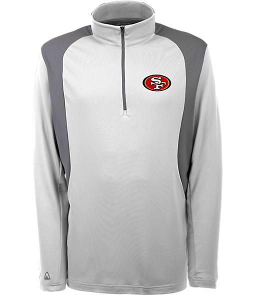 Men's Antigua San Francisco 49ers NFL Delta Quarter Zip Shirt