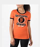 Women's New Era San Francisco Giants MLB Vintage Ringer T-Shirt