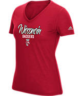 Women's adidas Wisconsin Badgers College Slant T-Shirt