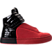 Right view of Men's SNKR Project Hollywood Casual Shoes in Red/Black