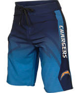Men's Forever San Diego Chargers NFL Gradient Boardshorts