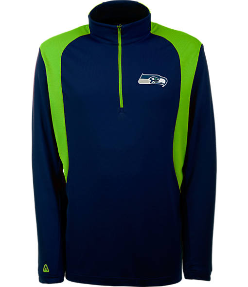 Men's Antigua Seattle Seahawks NFL Delta Quarter Zip Shirt