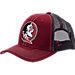 Front view of Zephyr Florida State Seminoles College Staple Trucker Snapback Hat in Team Colors