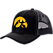 Front view of Zephyr Iowa Hawkeyes College Staple Trucker Snapback Hat in Team Colors