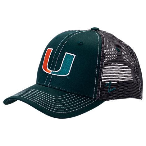 Zephyr Miami Hurricanes College Staple Trucker Snapback Hat