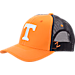 Front view of Zephyr Tennessee Volunteers College Staple Trucker Snapback Hat in Team Colors
