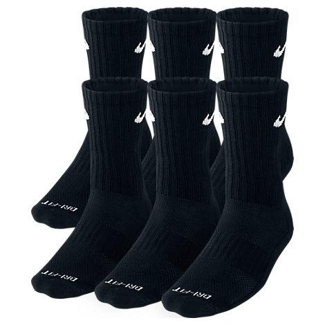 Nike Dri-FIT 6-Pair Crew Socks