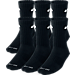 Front view of Nike Dri-FIT 6-Pack Crew Socks in Black