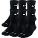 Back view of Nike Dri-FIT 6-Pack Crew Socks- Medium in Black/White