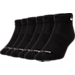 Back view of Nike Dri-FIT 6-Pair Low Cut Socks in Black